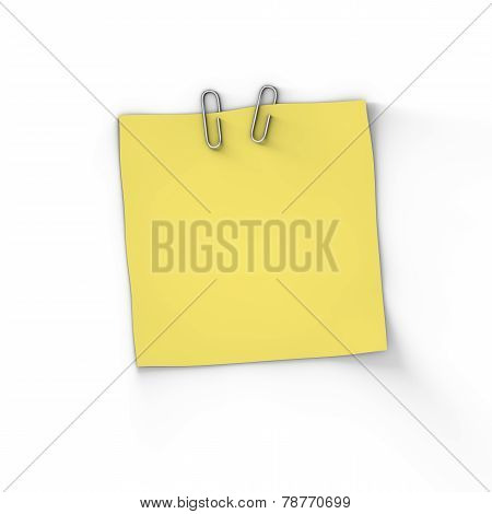 Single Adhesive Blank Paper Note
