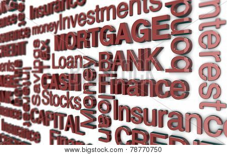 Finance Buzzword Background
