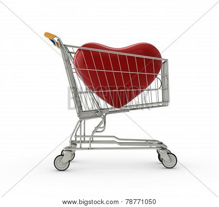 Heart In A Shopping Cart