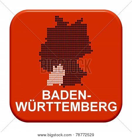 Red Button: German Region Baden-Wuerttemberg