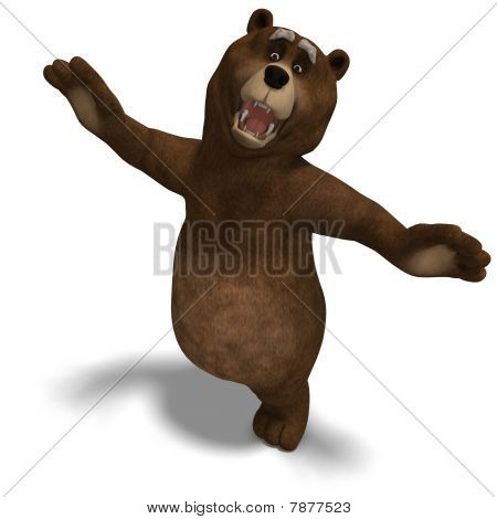 cute and funny toon bear