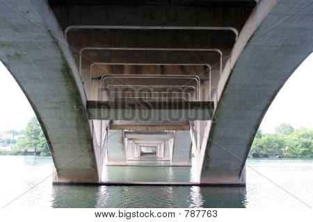 Under the Lamar Bridge in Austin, Texas