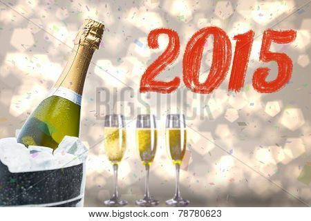 2015 against black and gold new year message