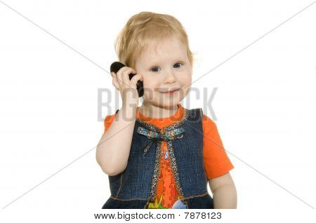 Girl With Telephone