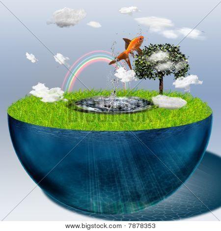 Water Filled Half Sphere