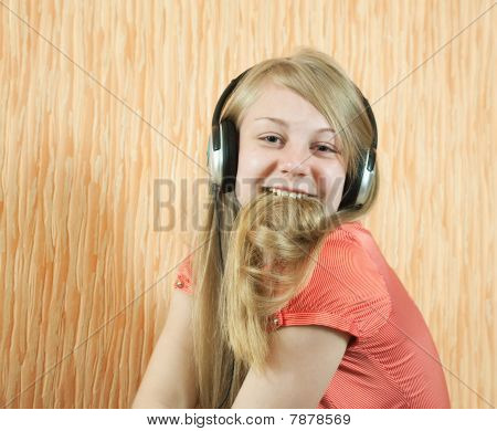 Teen Girl Listening Music