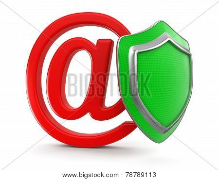 E-mail and Shield (clipping path included)