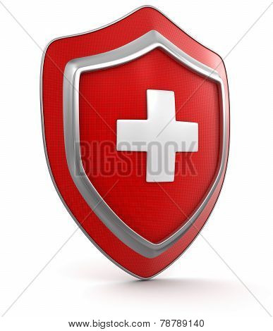 Shield with cross (clipping path included)