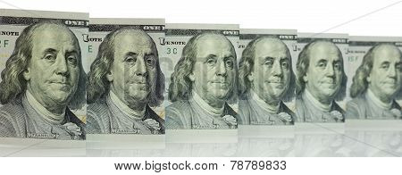Hundred Dollar Bills for background