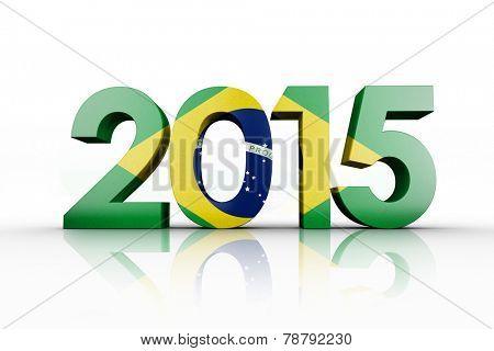 Brasil national flag against 2015