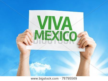 Viva Mexico card with a beautiful day