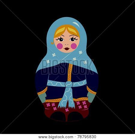 Babushka Doll in Winter Clothes