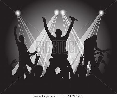 Heavy Metal Musicians Silhouette
