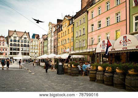 Wroclaw, Poland. The Market Square