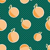 stock photo of peach  - Peach pattern - JPG