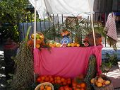 picture of pageant  - Fruit stand at nativity pageant - JPG
