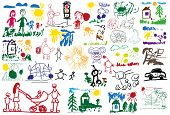 pic of baby spider  - stylized illustration of a set of children - JPG