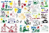 stock photo of baby spider  - stylized illustration of a set of children - JPG