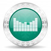 picture of christmas song  - sound green icon - JPG