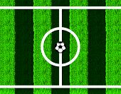 picture of offside  - Soccer ball in center field - JPG