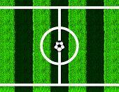 picture of offside  - Soccer ball in center field - JPG