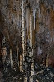 picture of grotto  - Stalactites and stalagmites in Les Grandes Canalettes grotto in French Pyrenees - JPG