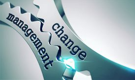 stock photo of change management  - Change Management Concept on the Mechanism of Shiny Metal Gears - JPG