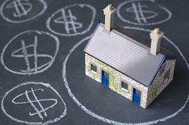pic of chalkboard  - House bubble boom presentation on chalkboard - JPG