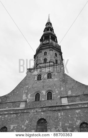 The St. Peter's Church In Riga.