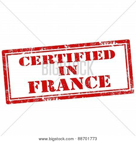 Certified In France-stamp