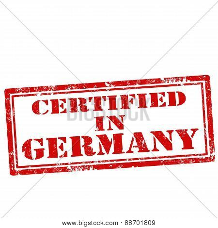 Certified In Germany-stamp