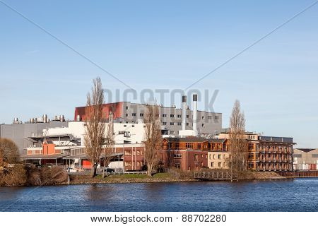 Waterfront Buildings In Bremen