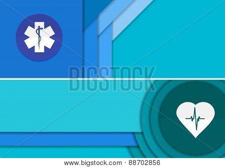 Medical Banner - Illustration Of Unusual Modern Vector Material Design