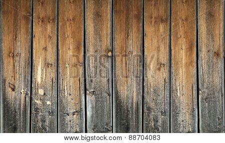 ancient weathered wooden planks