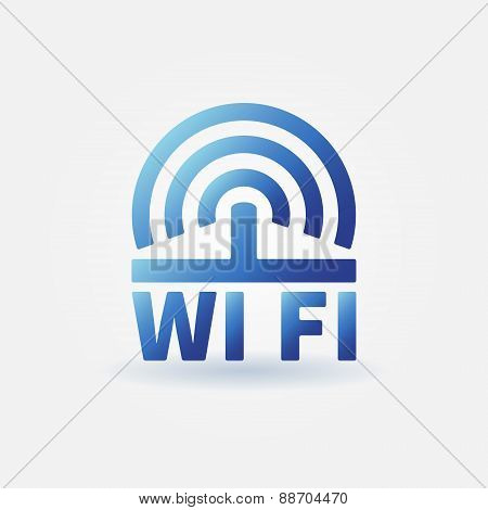 WiFi vector blue icon