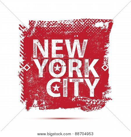 College New York typography, t-shirt