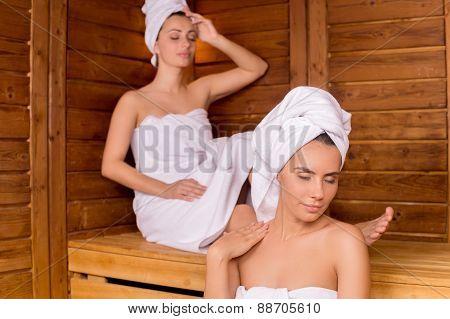 Women In Sauna.