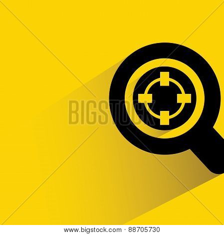 magnifier glass and focus
