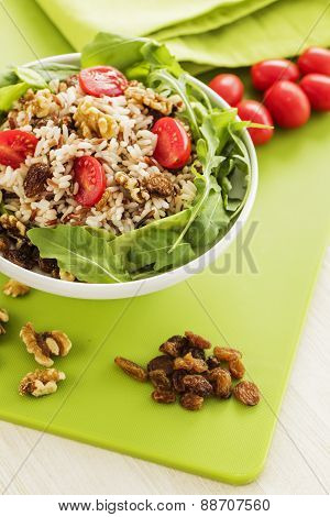Rice Salad With Nuts