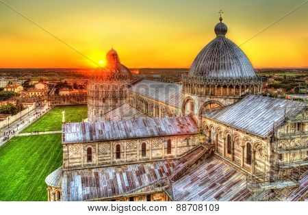 Sunset Over The Pisa Cathedral - Italy