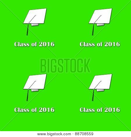 Class of 2016 White on Green Lg Pattern