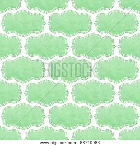 Watercolor seamless pattern with victorian frames on the white background, aquarelle.  Vector illust