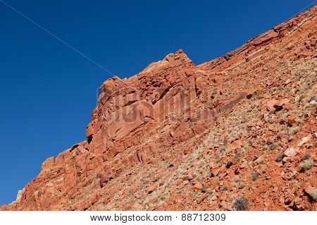 Red Sandstone With Blue Sky