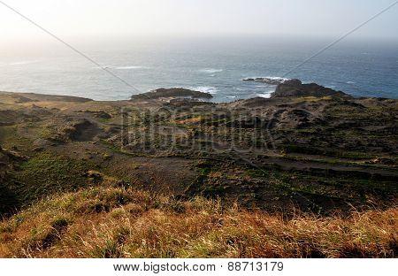 Waves Crash In The Bay Salinas
