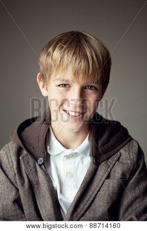Portrait Of  Happy Teenager Outdoor