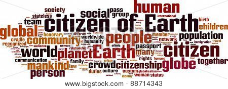 Citizen Of Earth Word Cloud