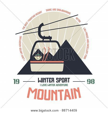 Mountain Winter Sport Emblem