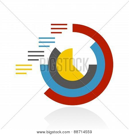 Color Radial Graph Icon