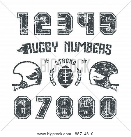 Rugby Numbers For T-shirt