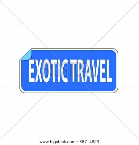 Sticker Exotic Travel Vector